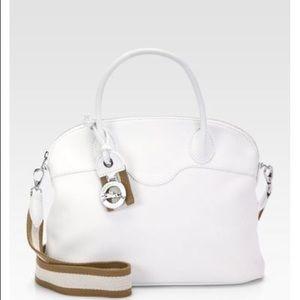 Longchamp 'Au Sultan' Dome Satchel white